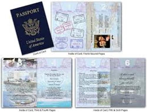 How to Make Your Own Wedding Invitations Look Unique With Passport – Passport Style Wedding Invitation