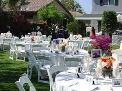 Backyard Wedding Reception Pic