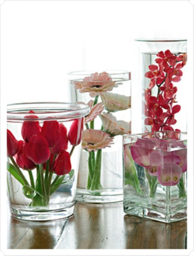 How To Make Wedding Centerpieces With Submerged Flowers Pic