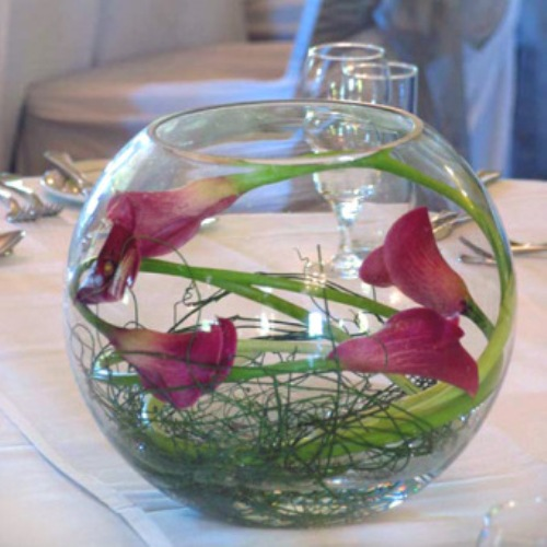 How To Make Wedding Centerpieces With Submerged Flowers 4