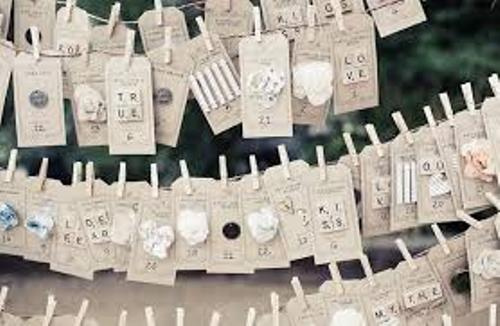 How to Arrange Wedding Place Cards in Cute ideas