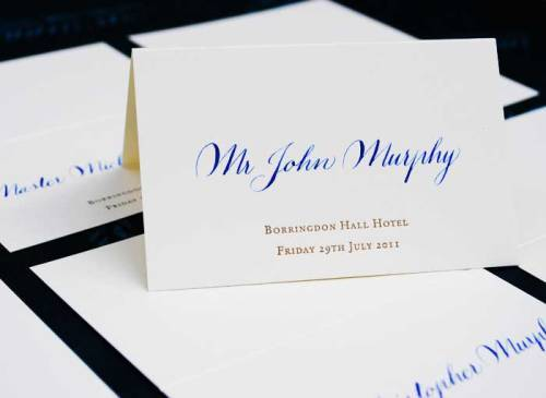 How to Arrange Wedding Place Cards in Fine Look