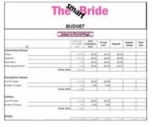 How to Create a Wedding Budget Checklist Images