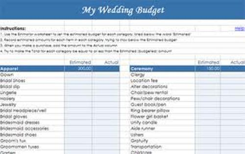 How to Create a Wedding Budget Checklist in Blue
