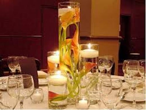 How to Make Wedding Centerpieces with Candles Idea