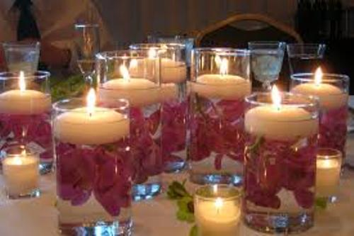 How to Make Wedding Centerpieces with Candles Pic