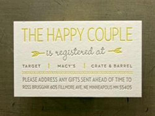 How to Make Wedding Registry Cards Style