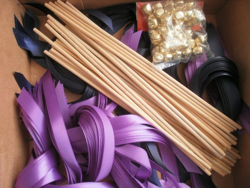 How to Make Wedding Streamer Wands with Bell
