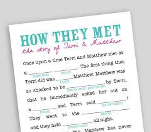 How to Make Your Own Wedding Mad Libs game