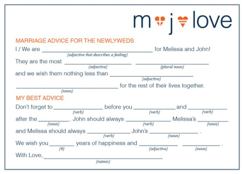 How to Make Your Own Wedding Mad Libs
