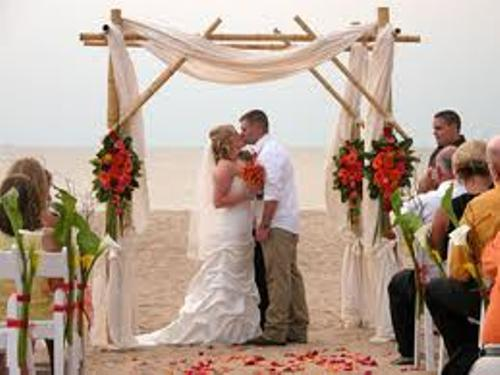 Wedding Arch with Bamboo Design