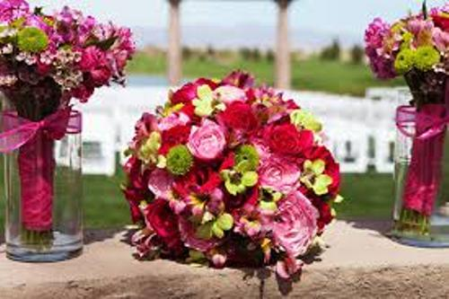 Wedding Bouquets In Red