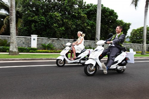 Wedding Transportation Scooter
